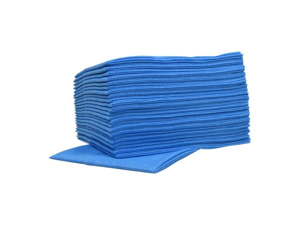 XXLselect Non-woven Cleaning Cloths Food | Blue | 45 x 50cm | 10 x 25 pieces in box | (also Pallets) Price per 250 Cloths
