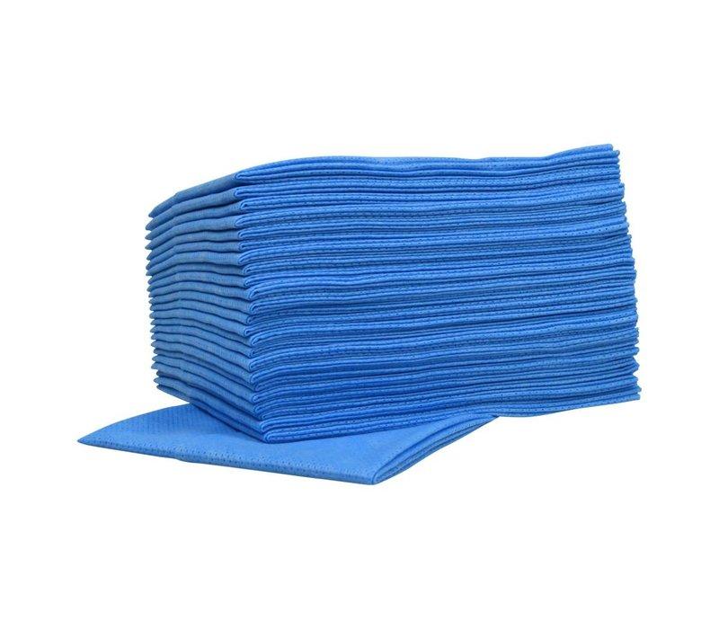 XXLselect Non-woven Sopdoeken Food   Blauw   45 x 50cm   10 x 25 stuks in doos   (ook Pallets) Prijs per 250 Doeken