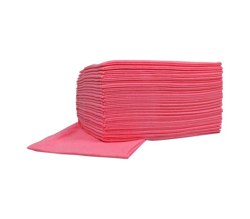 XXLselect Non-Woven-Reinigungstücher Food | Pink | 45 x 50 cm | 10 x 25 Stück im Karton | (auch Paletten) Preis pro 250 Tücher