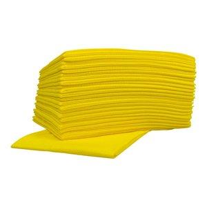 XXLselect Non-Woven-Reinigungstücher Food   Gelb   45 x 50 cm   10 x 25 Stück im Karton   (auch Paletten) Preis pro 250 Tücher