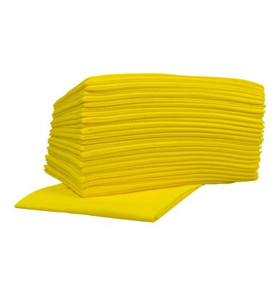 XXLselect Non-woven Cleaning Cloths Food | Yellow | 45 x 50cm | 10 x 25 pieces in box | (also Pallets) Price per 250 Cloths