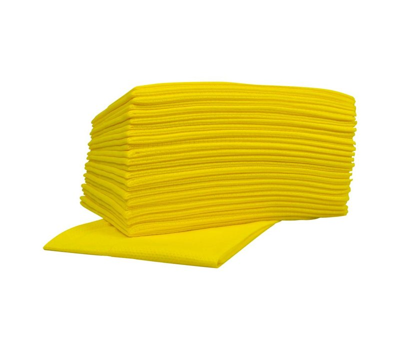 XXLselect Non-Woven-Reinigungstücher Food | Gelb | 45 x 50 cm | 10 x 25 Stück im Karton | (auch Paletten) Preis pro 250 Tücher