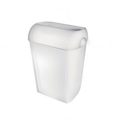 XXLselect Litter bin standing or wall mounting | White Plastic | 23 liters