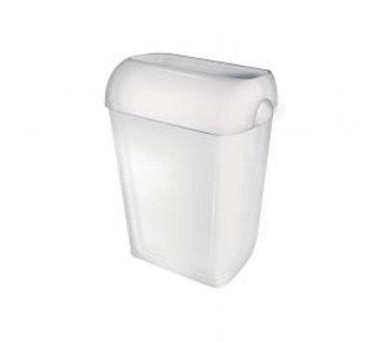 XXLselect Afvalbak Staand of Wandbevestiging   Wit Kunststof   23 liter
