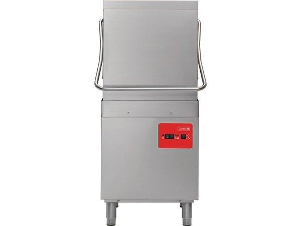 XXLselect Korbdurchschub- Geschirrspüler | 50x50cm | 63x71x (h) 140 cm | 900 Platten pro Stunde | 400V