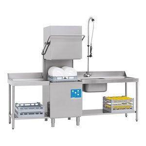 XXLselect Pass Trough Dishwasher | 50x50cm | 80x71x (h) 148 / 191cm | 90 or 150 seconds | 400V