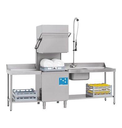 XXLselect Korbdurchschub- Spülmaschinen | 50x50cm | 80x71x (h) 148 / 191cm | 90 oder 150 Sekunden | 400V