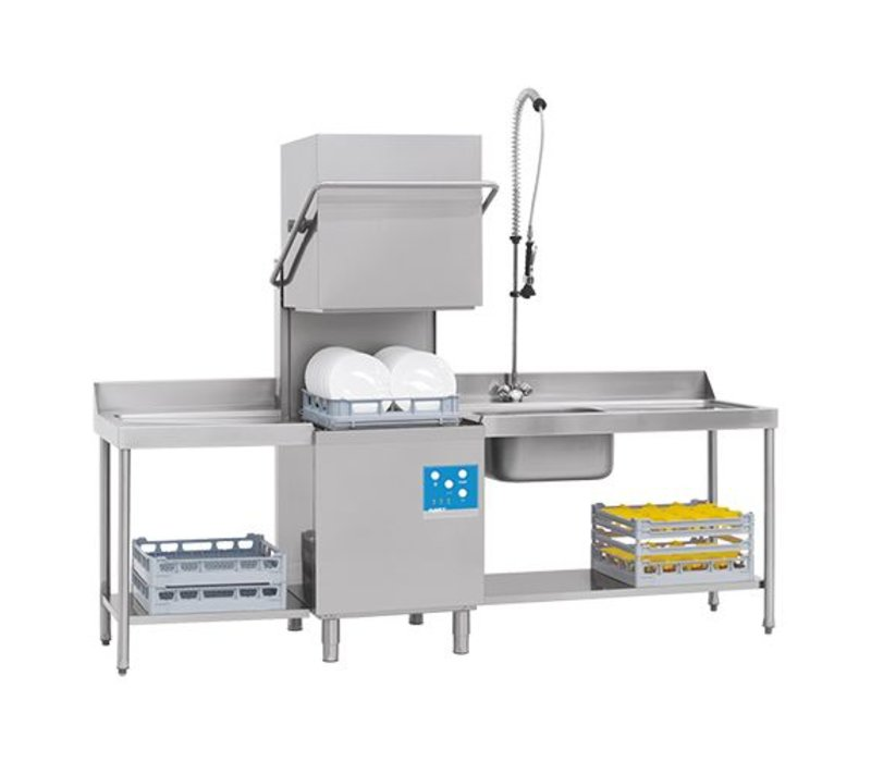 XXLselect Pass Trough Dishwasher | 50x50cm | 80x71x (h) 148 / 191cm | 90 or 150 seconds | 400V