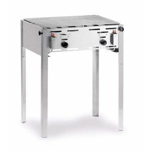 Hendi Roast-Master Maxi Grill   Meat BBQ + Grillrost   Butan und Propan   650x540x840 (h) mm