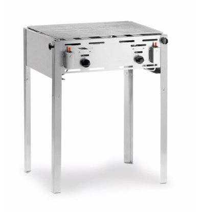 Hendi Roast-Master Maxi Grill | Meat BBQ + Grillrost | Butan und Propan | 650x540x840 (h) mm