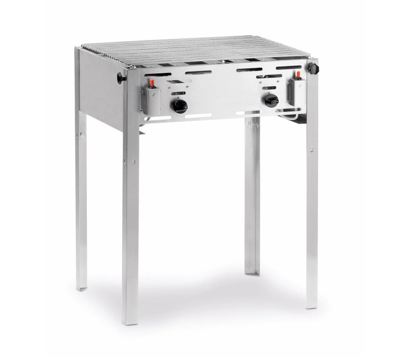 Hendi Roast Master Maxi BBQ | Slagers Barbecue + Grillrooster | Butaan & Propaangas| 650x540x840(h)mm