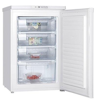 XXLselect Tabletop freezer - 4 Laden - 85Liter - 55x58x (h) 85cm
