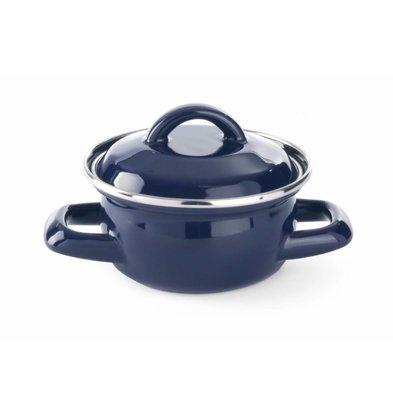 Hendi Soup saucepan blue Ø100x (H) 60mm   Enameled 0.4 Liter