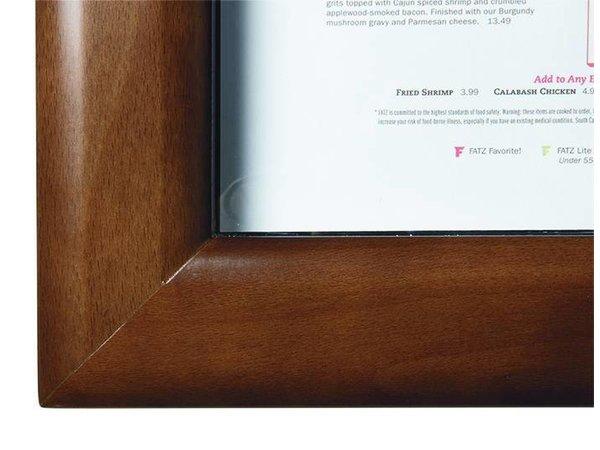 Securit Menukast met Ledverlichting - Houten stijl Donker Bruin - 4xA4