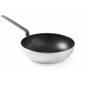 Hendi Aluminum wok 280 mm | nano-ceramic layer Greenline