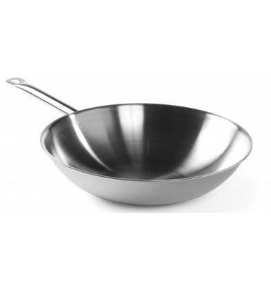 Hendi Edelstahl-Wok - mit Stahl