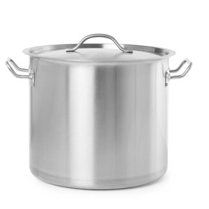 Hendi Casserole / Stockpot High with Lid - Stainless Steel - 22 Liter - 280mm High - CHOICE OF 5 SIZES