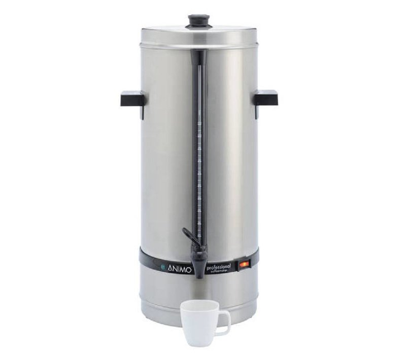 Animo Daalderop Percolator Animo | Hand Water Filling RVS | Ø250x (H) 640mm | 110 Cups | 15 Liter