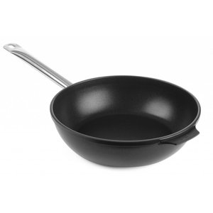 Hendi Deep frying pan cast aluminum 280x85 | bottom 225 mm with stainless steel handle