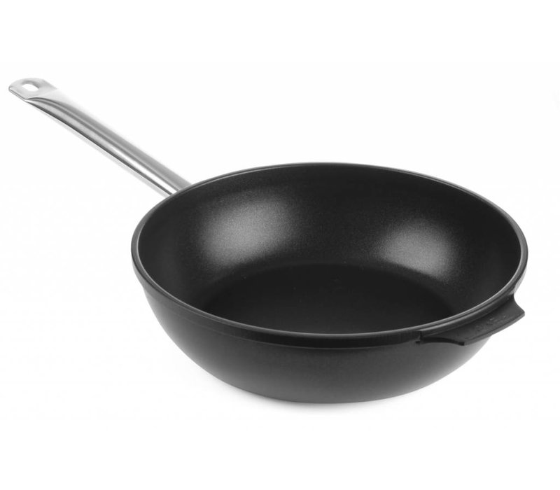 Hendi Deep frying pan cast aluminum 280x85   bottom 225 mm with stainless steel handle