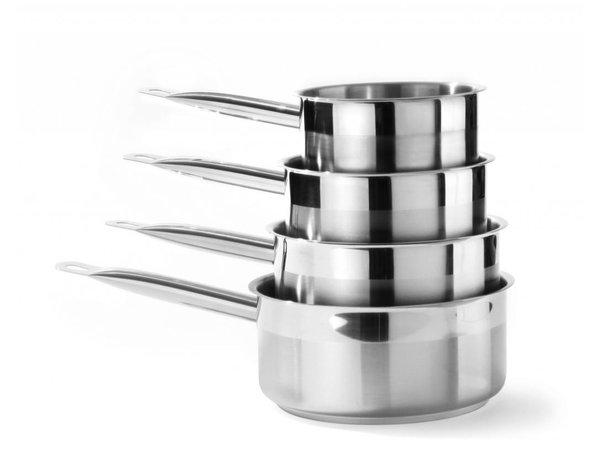 Hendi Stainless steel saucepan low 140x70 mm | 1.2 Liter z / lid