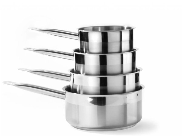 Hendi Edelstahl-Topf Low 160x75 mm | Ohne Deckel | 1,5 Liter