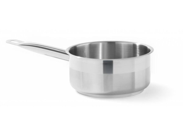 Hendi Stainless steel saucepan Low 200x90 mm | Without Lid | 3 liter