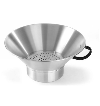 Hendi Aluminum Frittieren Seiher | Fester Boden | Mit abnehmbarem Display | Ø400x (H) 170mm