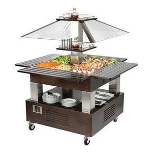 CaterCool Buffet / Saladebar   4x1/1GN   Elektronische Thermostaat   Beschermkap + Verlichting
