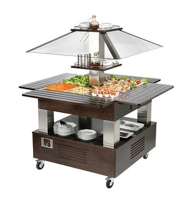 CaterCool Buffet / Salat | 4x1 / 1 GN | Elektronischer Thermostat | Schutz + Light