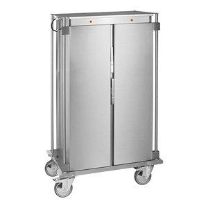 Caterchef Voedseltransportwagen RVS | Voorzien van Duwbeugel en Zwenkwielen | 16x1/1GN | 51x67x(H)165cm