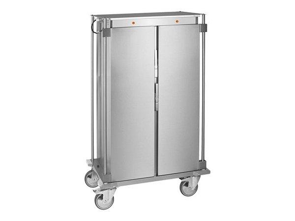 Caterchef Voedseltransportwagen RVS | Voorzien van Duwbeugel en Zwenkwielen | 2x16x1/1GN | 95x67x(H)165cm