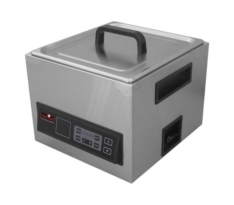 Caterchef Sous Vide 2 / 3GN | Edelstahl | Inkl. Bedecken Sie und zwei Griffen | Digitale Thermostat 30 / 90Cº