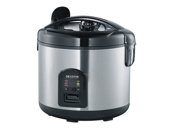 Double-walled stainless steel Rice Cooker | 1.8 Liter | Removable bowl Non-stick coating | Extra Basket | Ø29x (H) 29cm