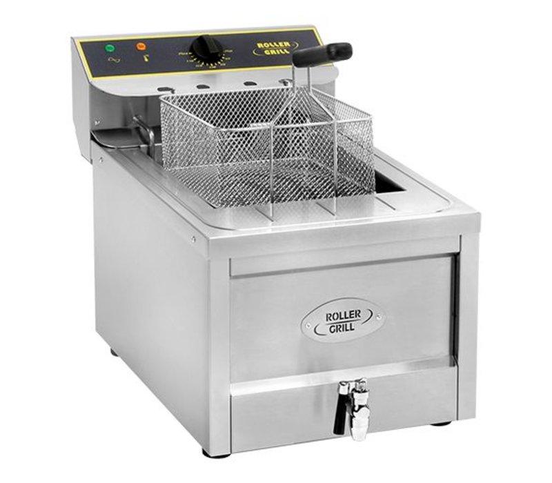 Roller Grill Electric Fryer | Cool Zone | Drain valve | 400V | 12 Liter | 40x60x (H) 45cm