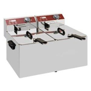 Diamond Elektrische Friteuse PRO | 7+7 Liter | 6,4 kW | 560x410x(H)290mm