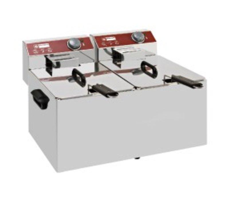 Diamond Electric Fryer PRO | 7 + 7 Liter | 6.4 kW | 560x410x (H) 290mm