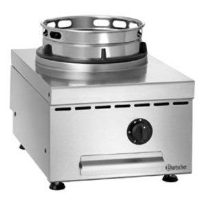 Bartscher Gas Wok Tischplatte   Edelstahl   Einstellbare Füße   400x600x (H) 415mm