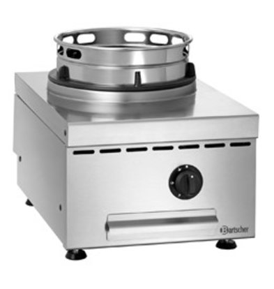 Bartscher Gas Wok Table Plate | Stainless steel | Adjustable Feet | 400x600x (H) 415mm