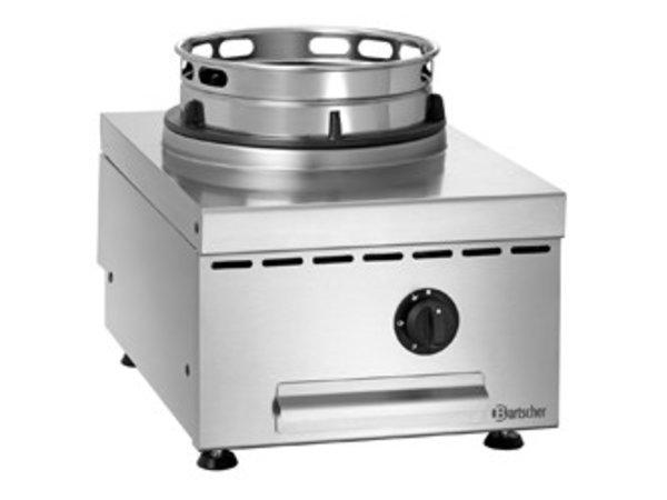 Bartscher Gas Wok Table Plate | Stainless steel | Adjustable Feet | 400x600x (H) 415mm
