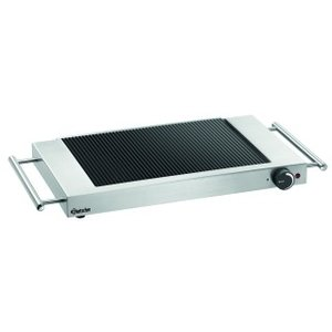 Bartscher Ceran grill plate Ribbed | Stainless Steel Housing | Incl. Ceran-scraper | 640x365x (H) 63mm