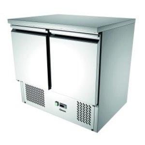 Bartscher Mini cool Workbench 900T2   2 Türen   Luftgekühlte   260 Liter   900x700x (H) 870mm