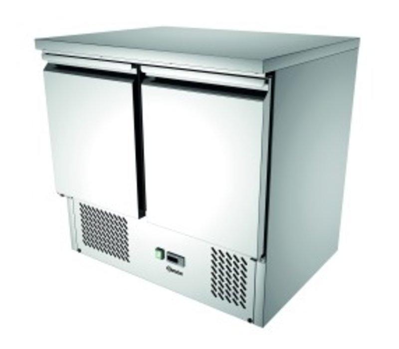 Bartscher Mini cool Workbench 900T2 | 2 Türen | Luftgekühlte | 260 Liter | 900x700x (H) 870mm
