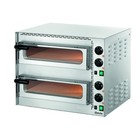 Bartscher Mini Pizza-Ofen | 2x1 Pizza Ø35cm | Einstellbare Temperatur von bis zu 400 C | 570x550x (H) 475mm