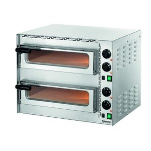 Bartscher Mini Pizza Oven | 2x1 Pizza Ø35cm | Adjustable temperature up to 400 C | 570x550x (H) 475mm