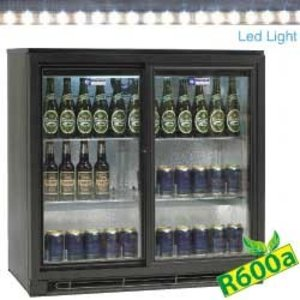 Diamond Bottle cooler | 2 Self-closing doors | LED Lighting | 900x515x (H) 900mm