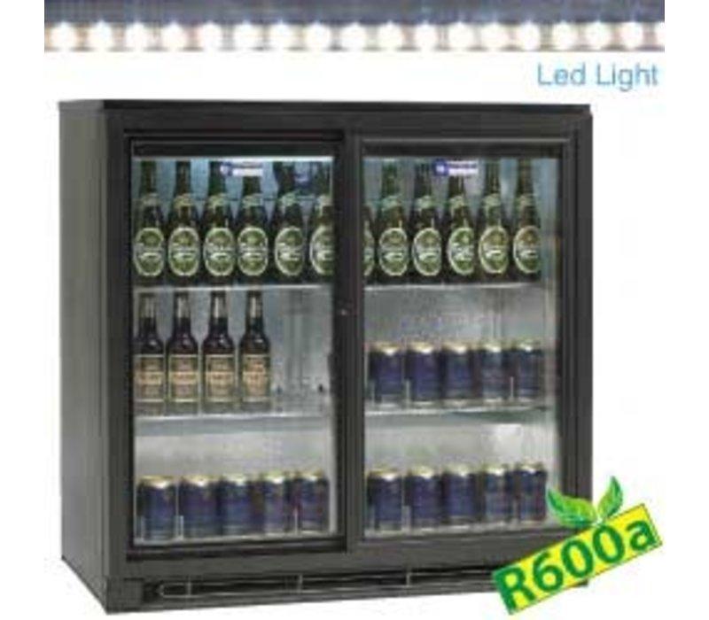 Diamond Flessenkoeler met 2 Zelfsluitende Deuren | LED Verlichting | 900x515x(H)900mm
