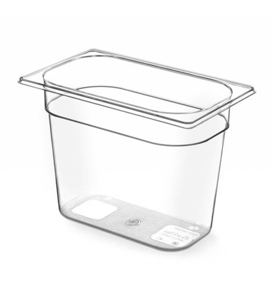 Hendi Gastronormbak 1/4 - 100 mm - Tritan BPA vrij