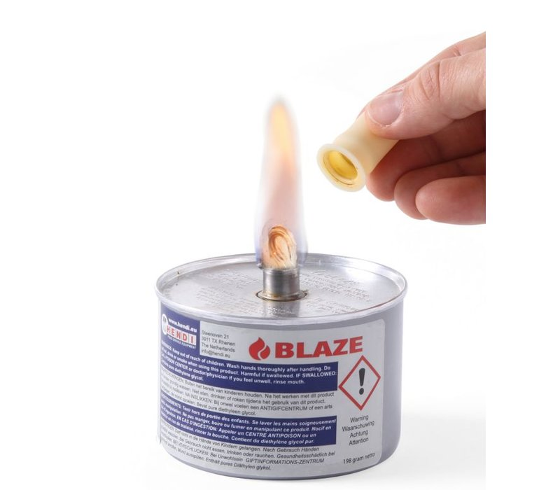 Hendi Brand Pasta - Zinn / Docht 225 g - Diethylenglykol Flüssige Blaze