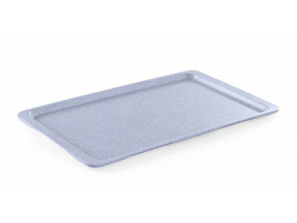 Hendi Tray Granite | HEAVY DUTY Plastic | Break-resistant + Non-slip coating | GN 1/2 325x265mm